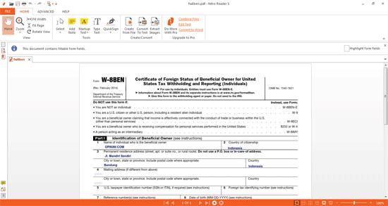 Mencoba Nitro Reader 5, Bisa Untuk Mengisi Form dan Convert File Ke PDF