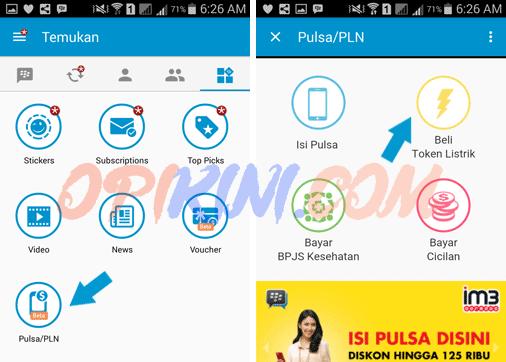 Cara Beli Token Listrik di BBM Android