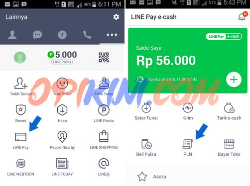 Panduan Cara Beli Token PLN Lewat LINE Pay e-cash