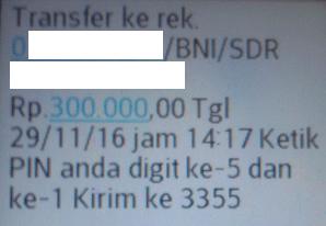 PIN mandiri sms