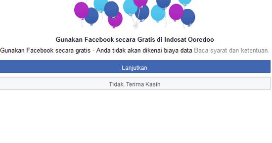 Cara Buka Facebook Gratis Tanpa Kuota Di PC Dengan Indosat Ooredoo