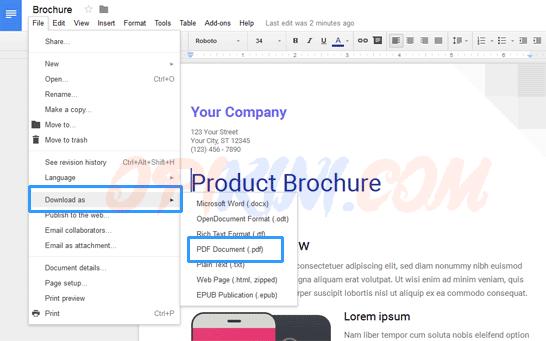 Cara Membuat File PDF Online Tanpa Software
