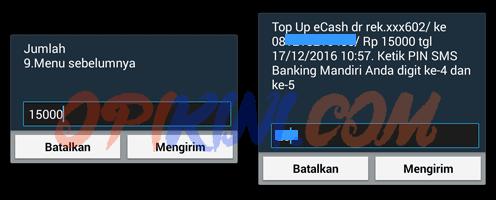 PIN SMS banking Mandiri