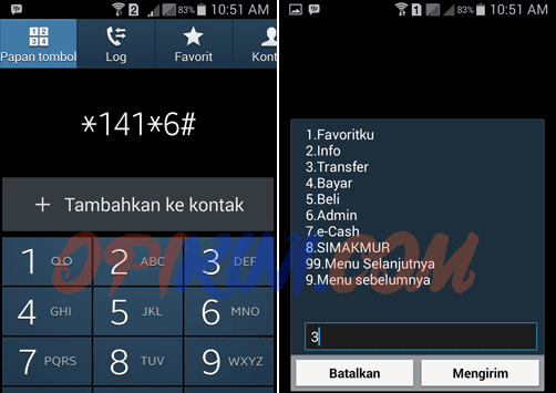 Cara Top Up atau Isi Saldo LINE Pay E-Cash Lewat UMB *141*6#
