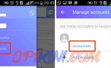 Menu Sign Out Pada Aplikasi Yahoo Mail 5.11 Android