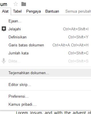Cara Terjemahkan PDF atau MS Word Online Ke Indonesia