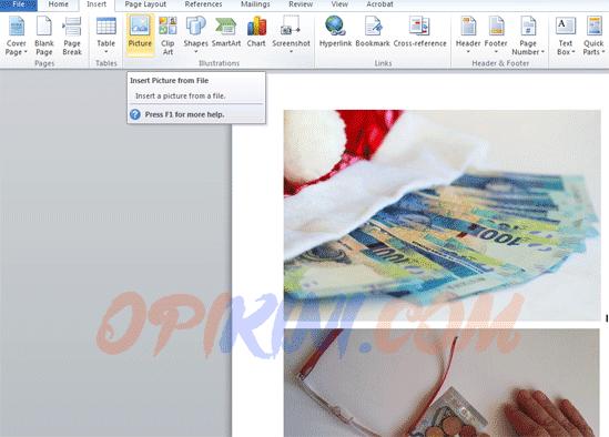 JPG ke PDF Dengan MS Word
