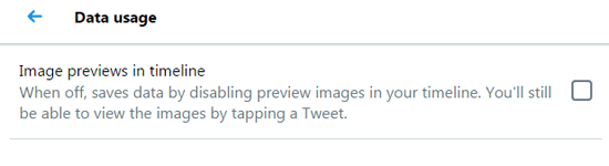 Image preview in timeline