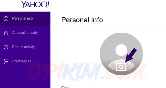 Cara Mengganti Foto Profil Email Yahoo Terbaru Lewat PC