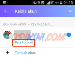 pilih Data Account