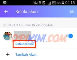 pilih Data Account