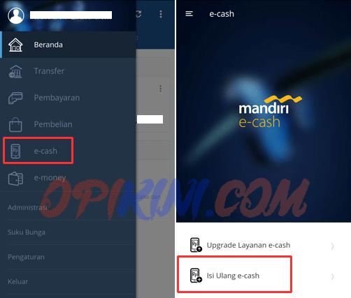 Cara Top Up E-cash Lewat HP Dengan Aplikasi Mandiri Online