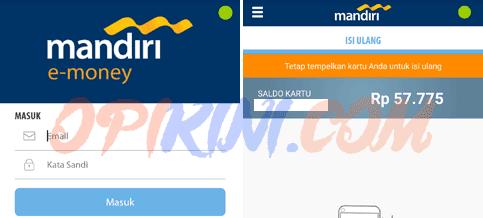 Cek Saldo E-Toll / Indomaret Card Lewat HP Dengan Mandiri E-Money Isi Ulang