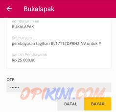 Cek kode OTP