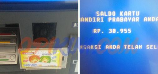 Cara Mengetahui Sisa Saldo Indomaret Card atau E-toll Lewat ATM