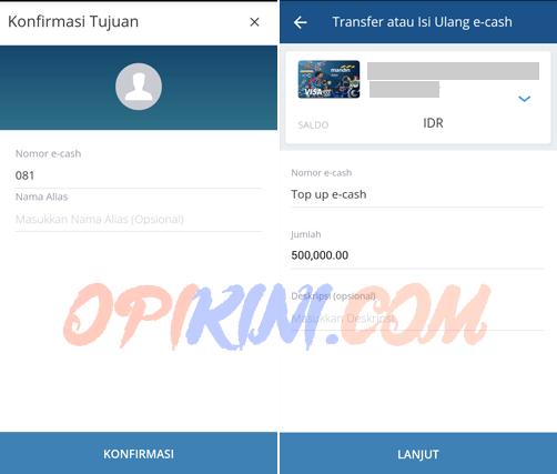 Top Up E-cash Lewat HP Dengan Aplikasi Mandiri Online