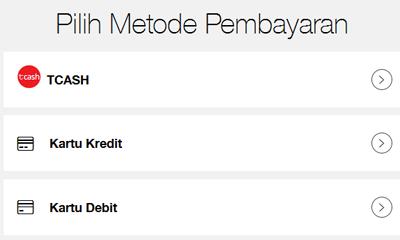 metode pembayaran pilih Kartu Kredit