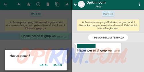 Menghapus Chat Yang Terkirim di Grup Apakah Bisa?