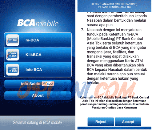 Cara Aktivasi m-BCA di HP Android