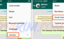 Panduan Cara Backup Chat WhatsApp Ke Email