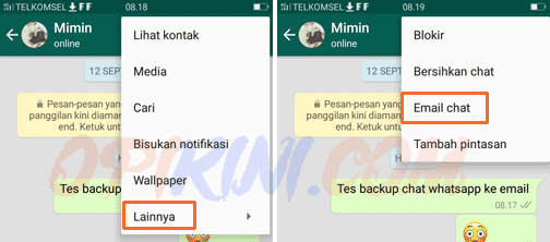 PanduanCara Backup Chat WhatsApp Ke Email