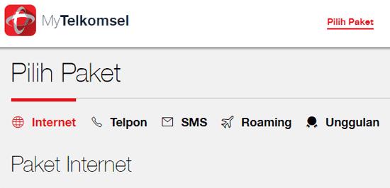 Cara Beli Paket Internet Simpati Online di MyTelkomsel