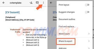 Cara Mengubah Dokumen Word ke PDF di Android Dengan Google Docs ...
