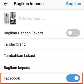 Menghubungkan Instagram Ke Facebook