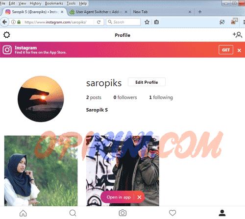 Cara Upload ke Instagram Dari PC Lewat Mozilla