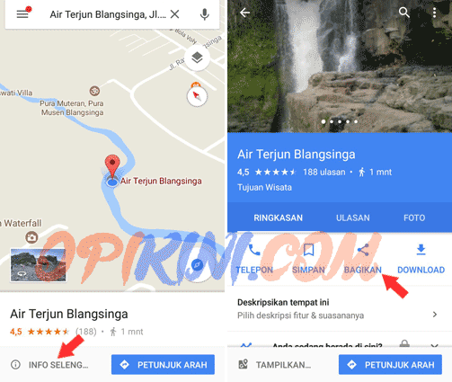 Cara Share Location Google Maps di HP Android