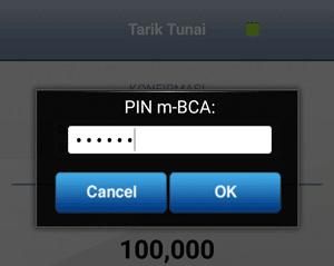 Masukan PIN m-BCA