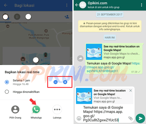 Cara Share Location Google Maps di Android