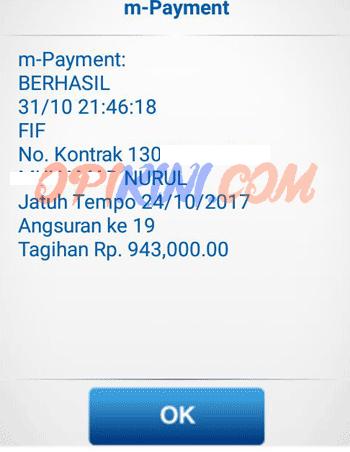 pembayaran kredit FIF lewat BCA mobile