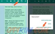 Cara Hapus atau Tarik Pesan WhatsApp Yang Sudah Terkirim