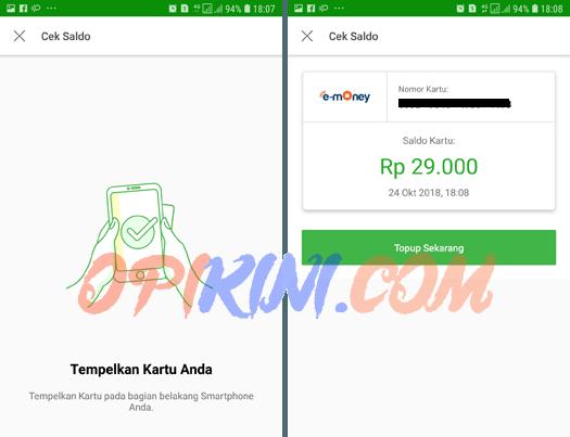 Tempelkan kartu e-toll