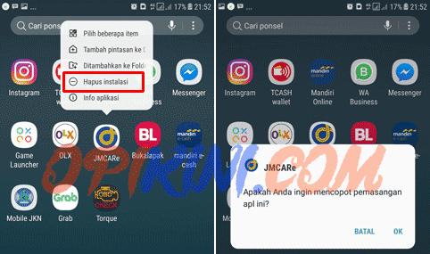 Dua Cara Hapus Aplikasi Android Di Samsung J7 Opikini