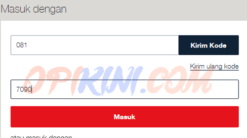 Masuk MyTelkomsel WEB