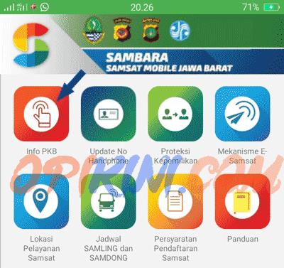 Cek Pajak Kendaraan Bermotor Jawa Barat Online Lewat HP Android