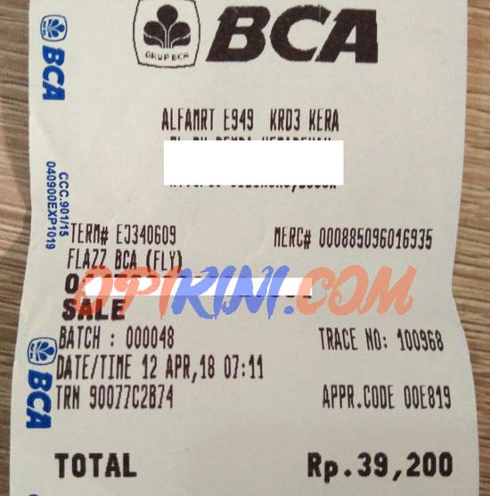 Pengalaman Bayar Alfamart Pakai Flazz BCA Pertama Kali