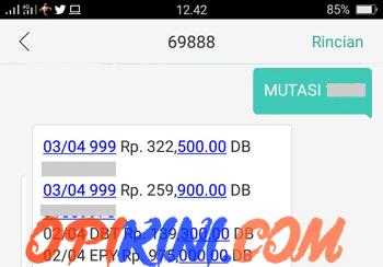 Cek Mutasi Rekening BCA Via SMS Banking