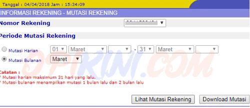 Cek Mutasi Rekening BCA Online via Internet Banking (KlikBCA)
