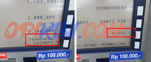 Cara Top Up Flazz Bca Di Atm Dan Pakai Uang Tunai Di Alfamart Opikini