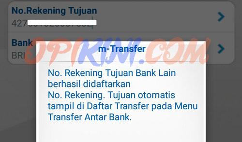 M BCA Tidak Bisa Tambah No Rekening atau Transfer ke Rekening Baru