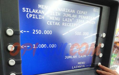 Top Up BRIZZI di ATM BRI LINK Pakai Kartu ATM Mandiri