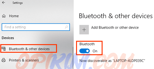 Bluetooth & other devices