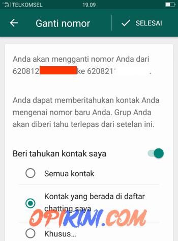 Beritahu Kontak WhatsApp Saat Ganti Nomor HP