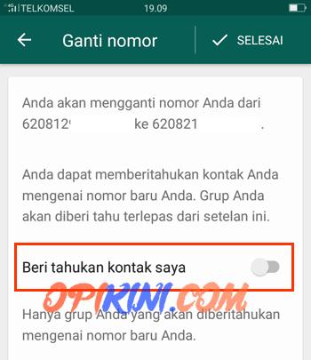 Cara Beritahu Kontak WhatsApp Saat Ganti Nomor HP