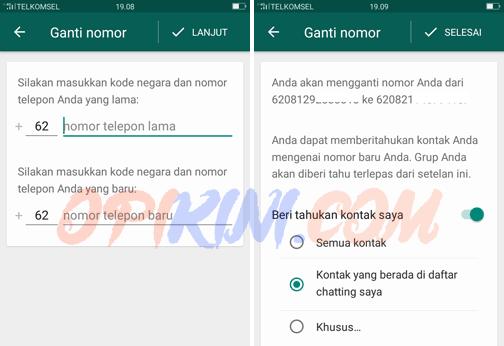 Masukan no WhatsApp lam