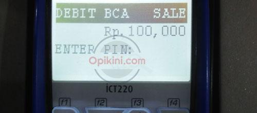 Masukan PIN Kartu ATM BCA