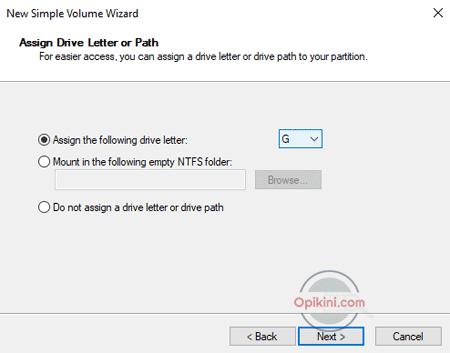 Partisi Baru di Windows 10